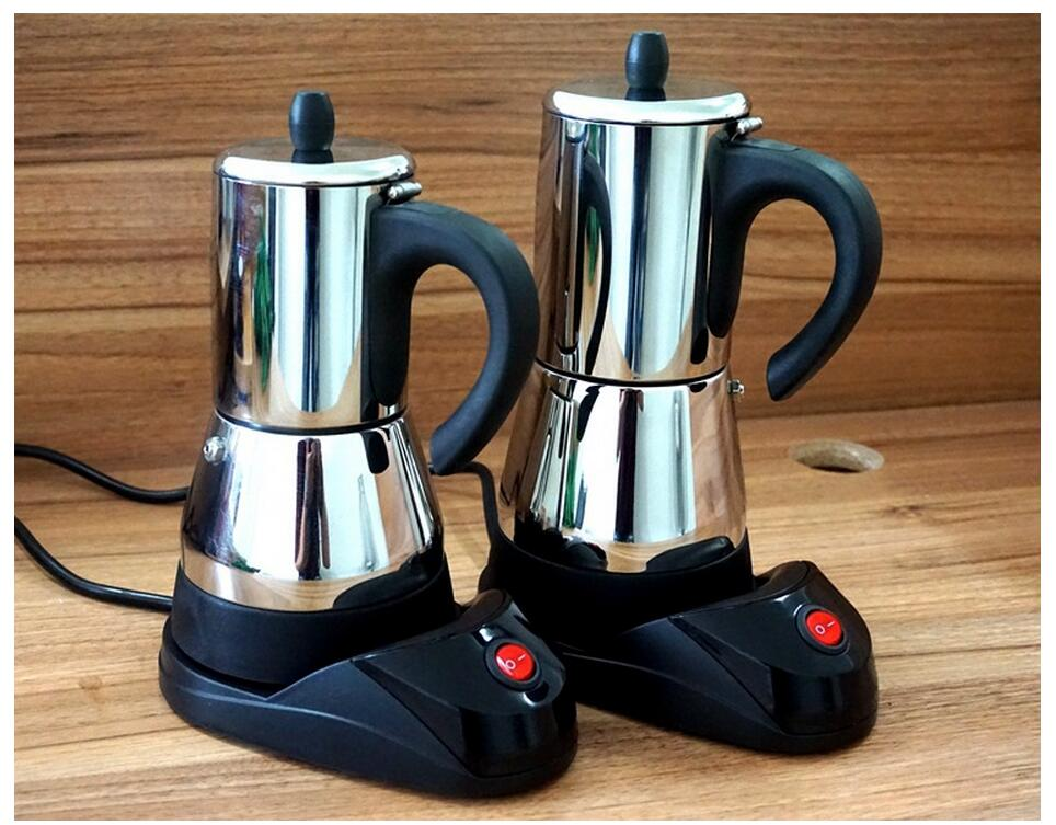 Large Electric Coffee Maker : Electric stainless steel syphon coffee maker/Automatic Electric mocha/moka coffee pot with high ...