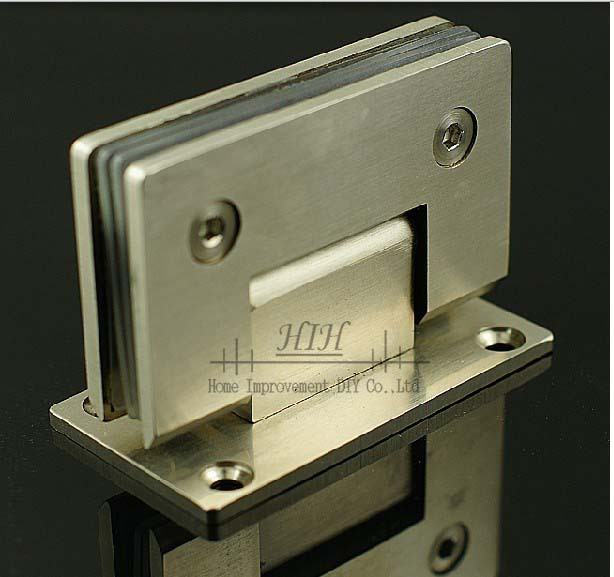 2 X wall-glass hinges 90 square showcase hinges shower door hinges wall mounting shower hinge  wholesale Free Shipping