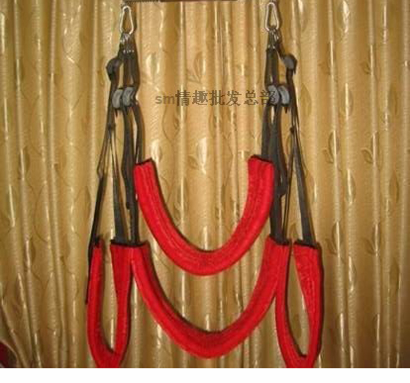 Retail Red Sex Swing Red Plush Columpio Sex Furniture Sex Swing Chairs QQ001(China (Mainland))