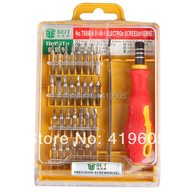 1set Muti-function Screwdrivers tool set Useful 32 1 , computer mobile electronic maintenance tools BEST-530 - Dafeng's store