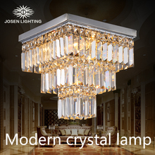 2015 New cristal lamp Hot selling genuine stainless steel k9 crystal ceiling lights for living room ceiling crystal lamp  modern(China (Mainland))