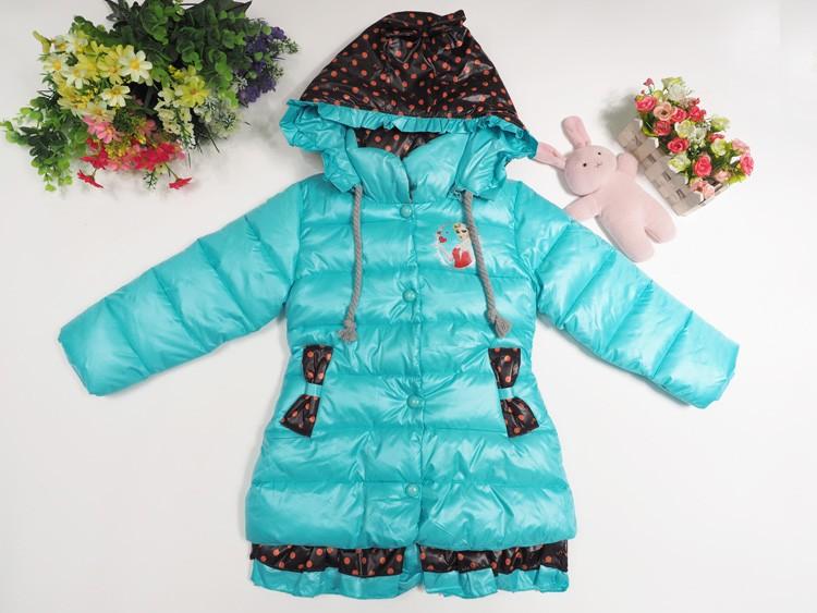 Скидки на Оптовая продажа девочек одежду нового зимой толстые девочки пальто мультфильм анна elsa девушки куртка, Манто fille высокое качество бесплатная доставка