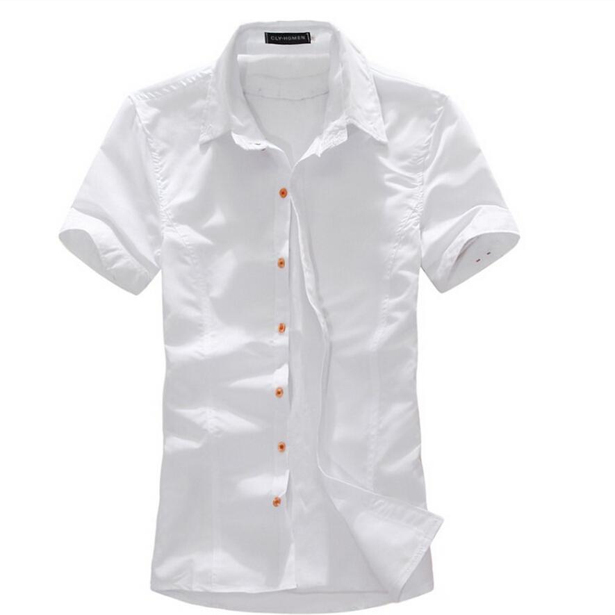 2015 new brand fashion mens dress shirts short sleeve for Mens short sleeve dress shirts slim fit