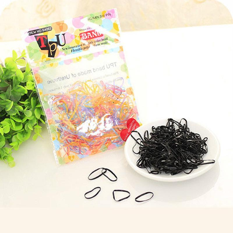 Black Multicolor Rubber Rope Ponytail Holder Elastic Hair Bands Ties Braids Plaits Hair Clip Headband Hair Accessories(China (Mainland))
