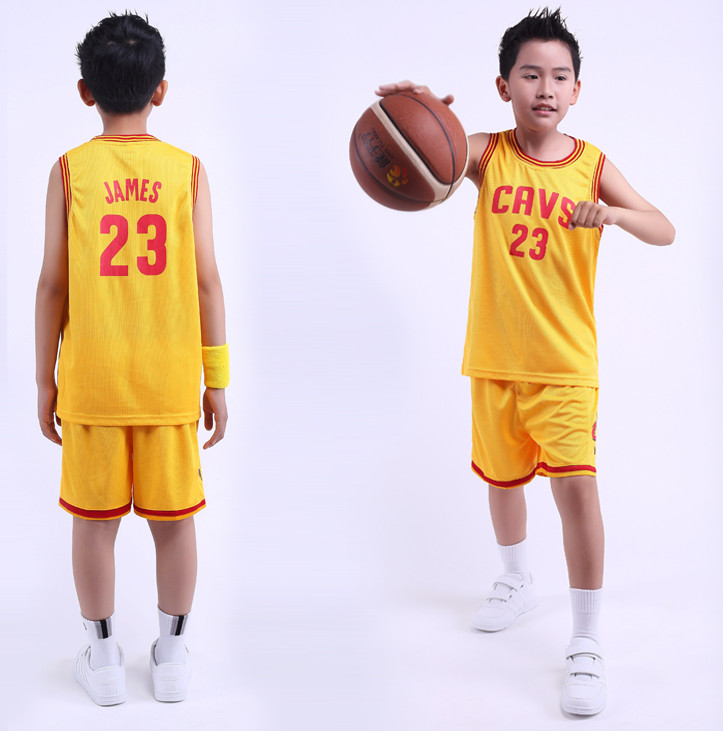Free shipping 2016 Kids/Children Summer NBA Basketball Set Training Tracksuit Clothes jersey james basketball jerseys(China (Mainland))
