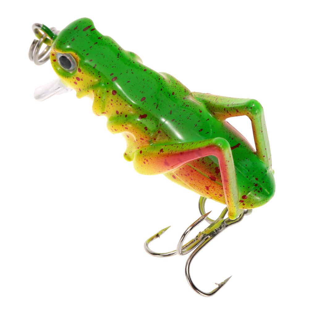 Tiny Locust Cricket Lure 4cm 3g 1pcs Artificial Soft Bait Lures Insects Cricket Pesca Carp Fishing Lures Fly Fishing(China (Mainland))