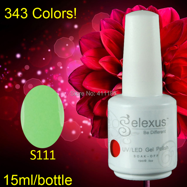 Free shipping 2015 New Gelexus Soak off UV Nail Gel Polish 3pcs/lot 15ml 5oz (1pc color gel+1pc base gel+1pc top coat) 343Colors