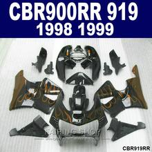 Buy High fairings Honda CBR900RR 919 98 99 red flames black bodywork fairing kit CBR 919RR 1998 1999 41FY for $340.40 in AliExpress store