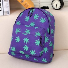 2014 New Japan zipper original SuFeng JOYRICH WEED, hemp leaf green leaves backpack backpack bag(China (Mainland))