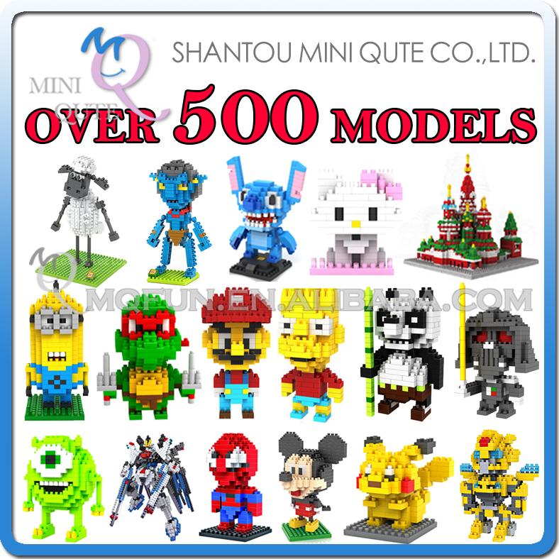 Детское лего Qute , 500 LOZ 3D nano & 00001 детское лего gudi