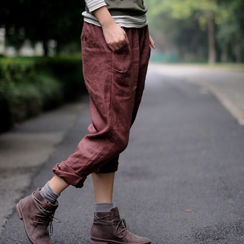 Free shipping 2015 high end linen slacks autumn art fan for What time does old navy open today