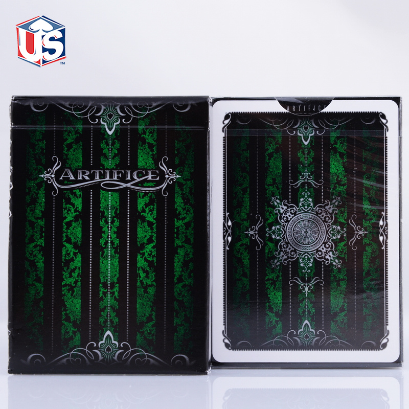 Emerald Green Artifice Second Edition V2 Deck Ellusionist Bicycle Playing Cards Magic Tricks Magic Card(China (Mainland))