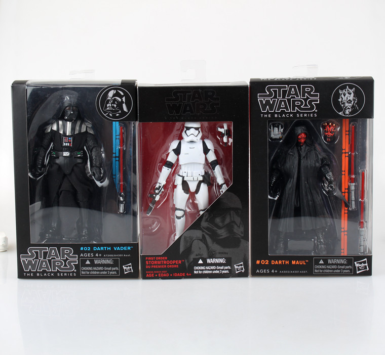 Classic Movie Star Wars Action Figure Darth Vader Darth Maul BGM lightsaber Stormtrooper Doll PVC Model 6