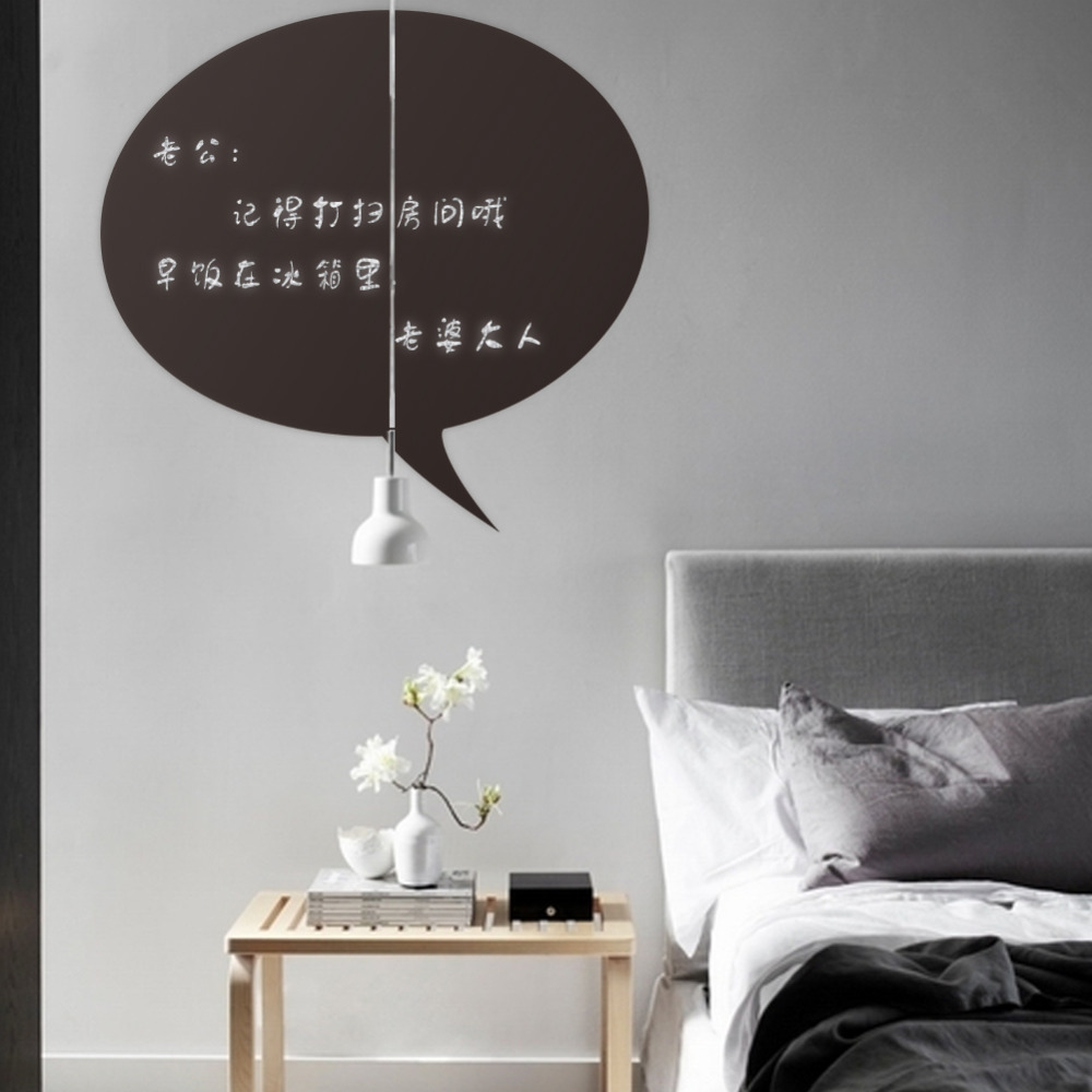 Removable Vinyl Wall Decor : Leave a message vinyl blackboard wall sticker removable