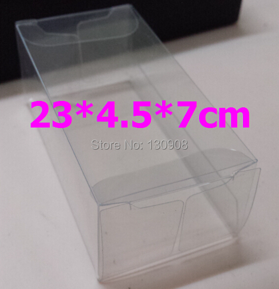 size 23*4.5*7cm Free shipping Waterproof large Clear Plastic Box, transparent Clear box for gift packaging(China (Mainland))