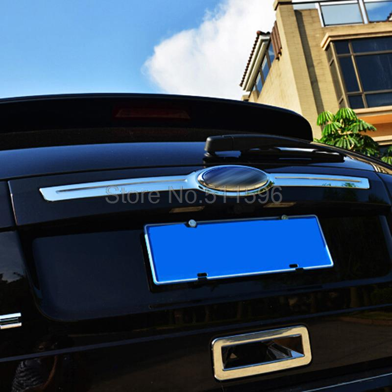 1pcs Abs Chrome Chromium Styling Trunk Lid Cover Trim Tail Door Accessories For Ford Edge 2011