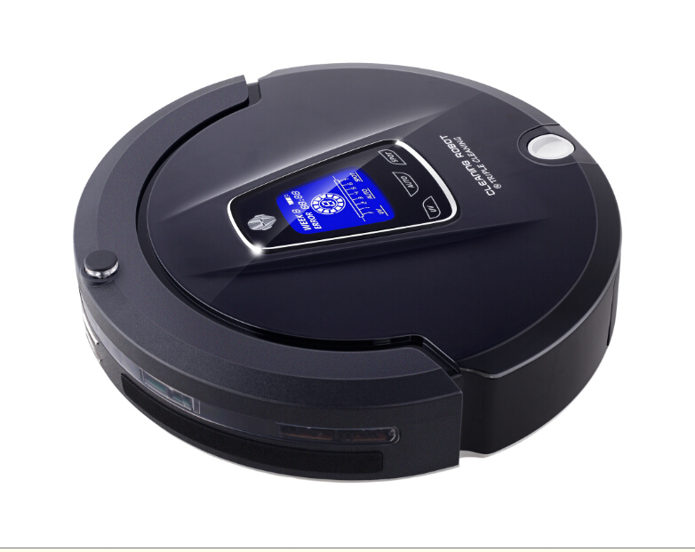 Free To Russia 2016 New Multifunction Robot Vacuum Cleaner(Sweep,Vacuum,Mop,Sterilize),LCD,Schedule,2Way VirtualWall,SelfCharge(China (Mainland))