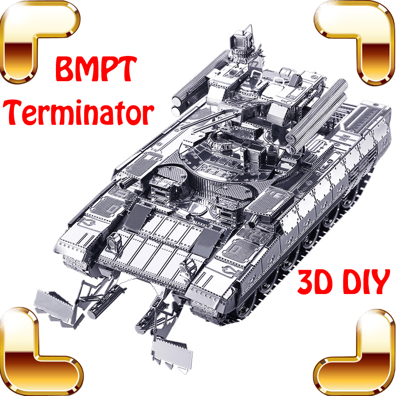 Christmas Gift Russian BMPT Tank 3D Metal Model Men's Favour Collection DIY Alloy Piece Game IQ Match Building Fun Toys - PIO-TOYS Store store