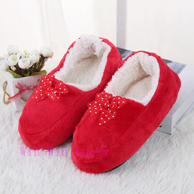 Women Warm Winter Home Cotton Shoes. Comfortable Plush Soft Indoor Shoes Foot Warmer Floor Socks slippers - SuiHyung-Bag store