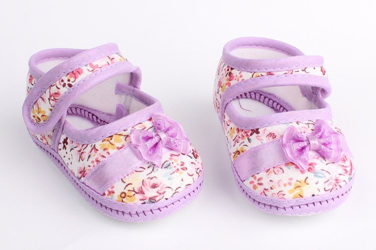 Retail Girls flowers baby toddler shoes 11cm 12cm 13cm spring autumn children footwear first walkers for