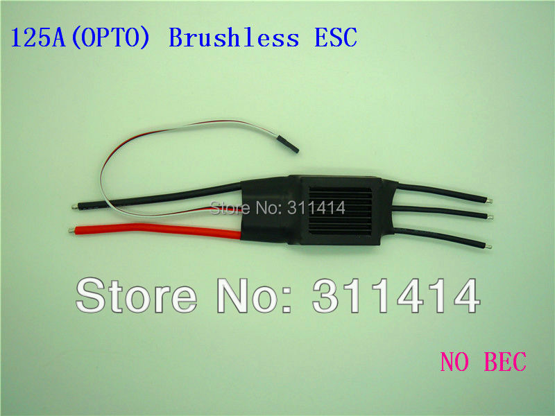 2pcs/lot 125A(OPTO) Brushless ESC Speed Controller For RC Airplane Aircraft Model Brand New + Free Shipping Best Service(China (Mainland))