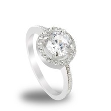 2 Color hot New Design Fashion Noble Plated 18k Real gold Zircon Crystal Rings jewelry High