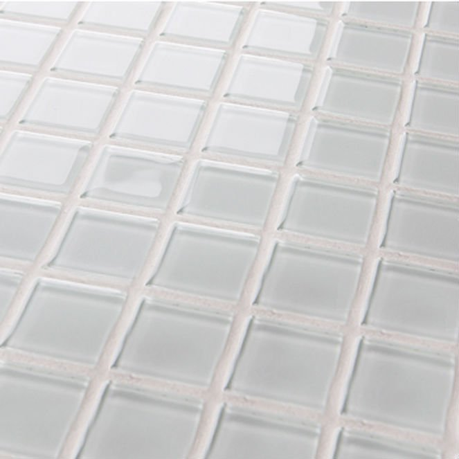 Crystal mosaic tile mirror sheets deco mesh mounted white - Lowe s home improvement bathroom tile ...