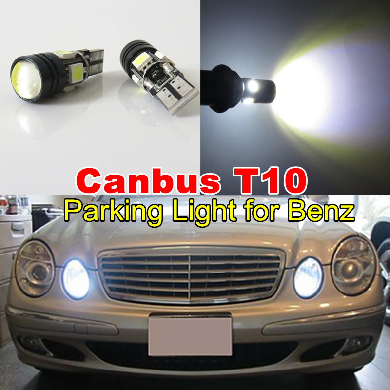 T10 Car Led 501 W5W White Canbus Cree Projector Lens Parking Light Bulb for Mercedes Benz C250 C300 E350 E550 ML550 R320 R350 2x(China (Mainland))