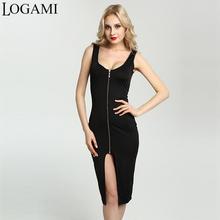 Buy Summer Dress 2017 Sexy Woman Sleeveless Bodycon Dress Split Zipper Party Dresses Midi Plus Size Women Clothing Vestido De Festa for $9.84 in AliExpress store