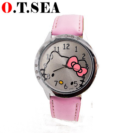 Hot sales fashion lovely hello kitty watch kids children girl women fashion quartz wrist watch 8568(China (Mainland))
