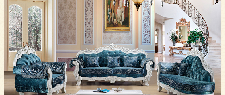 European high end living room furniture fashion luxury royal velvet sofa set in living room - Add luxurious look home royal sofa living room ...