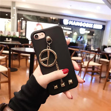 Buy Coque Fashion Brand Black Cover GD Bigbang Anti War Metal Pendant Rivet TPU Silicone Soft Phone Case iPhone 6 6S 7 Plus for $4.63 in AliExpress store