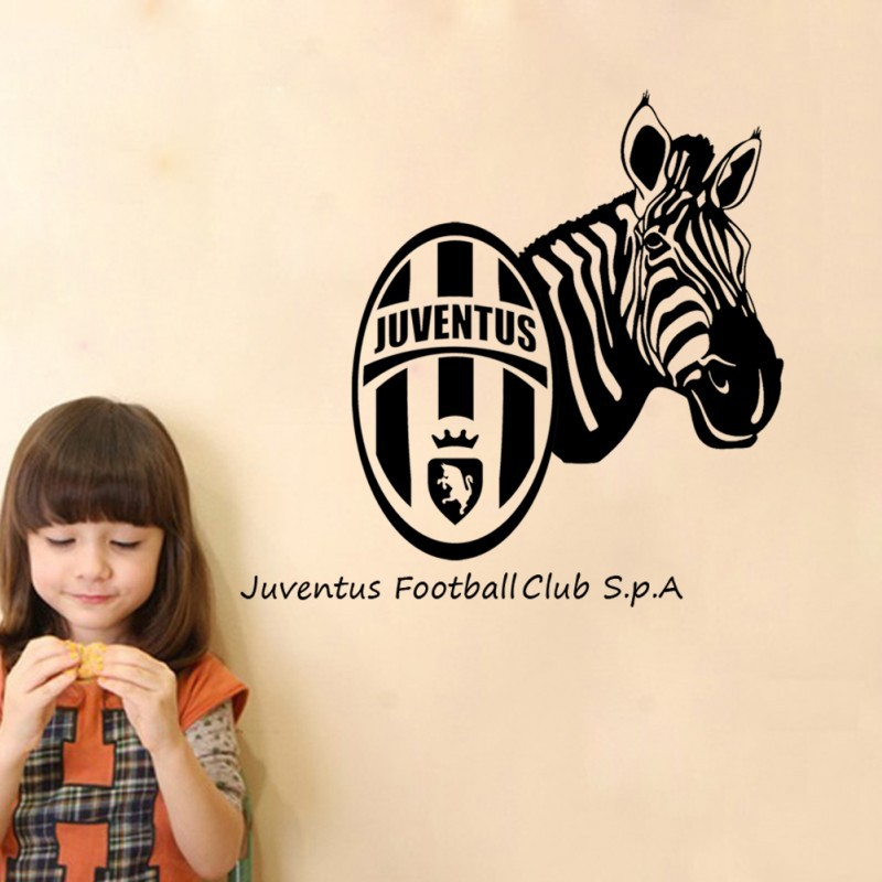 1PC Hot Sale Juventus Football Club Soccer Window Decals Fashion Home Living Room Background Sticker Decoration(China (Mainland))