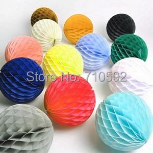 "15pc 2""(5cm) Tissue Paper Honeycomb Balls Decorative Balls Honeycomb Paper Wedding Decoration Birthday Baby Shower Home Decor(China (Mainland))"