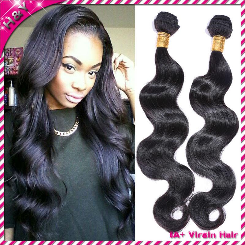 brazilian hair weave bundles brazilian virgin hair body wave 6a brazilian virgin human hair weave body wave hair 4pcs lot(China (Mainland))