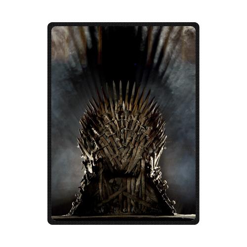 Game of Thrones Sword Crown Customized Woolen Fleece Blanket Indoor / Outdoor Blanket Travel Blankets 40x50, 50x60, 58x80inches(China (Mainland))