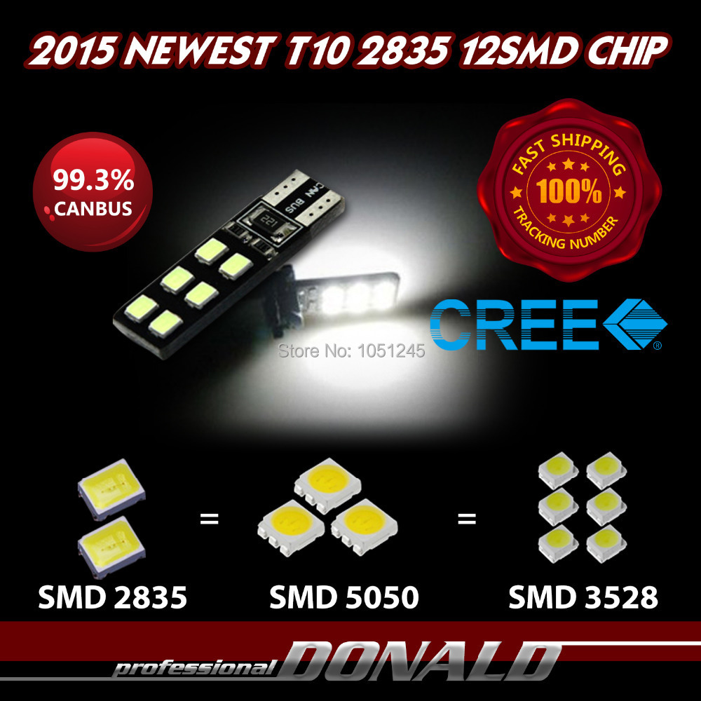 4x Canbus Error Free T10 CREE SMD Led 12LED 2835 194 168 W5W Light Bulbs Car Turn Singal Width Indication Super Bright - Donald Mall store