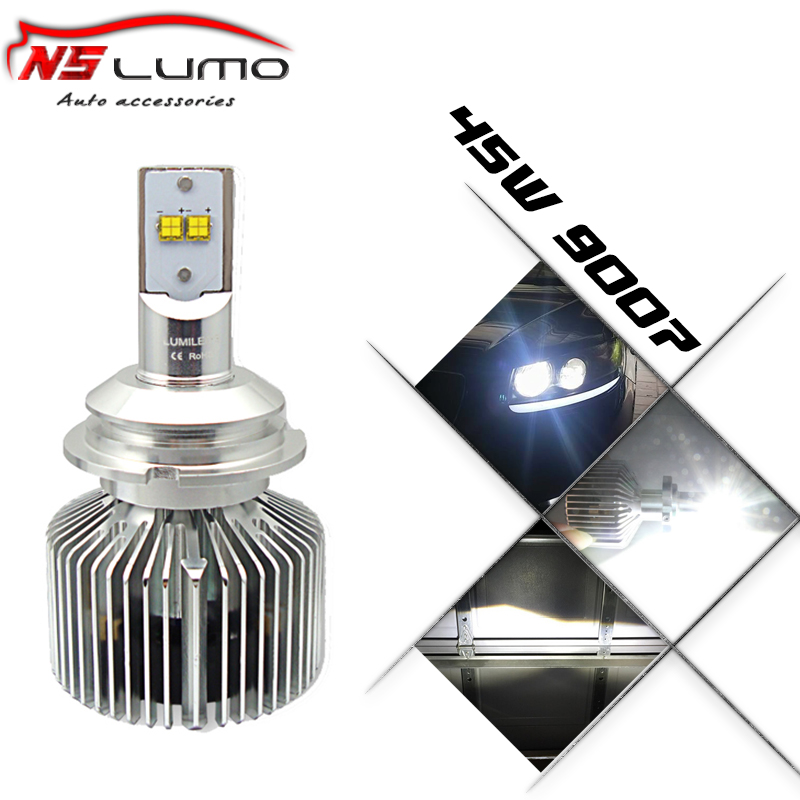 Фотография Newly design One set Integrated Auto led headlight kit 45W * 2 4500LM * 2,High Low beam design 9007 (HB5) led headlight 9000LM