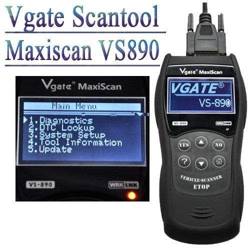 Оборудование для диагностики авто и мото Vgate Scantool Maxiscan VS890 , 70 комплект шнуров для диагностики авто