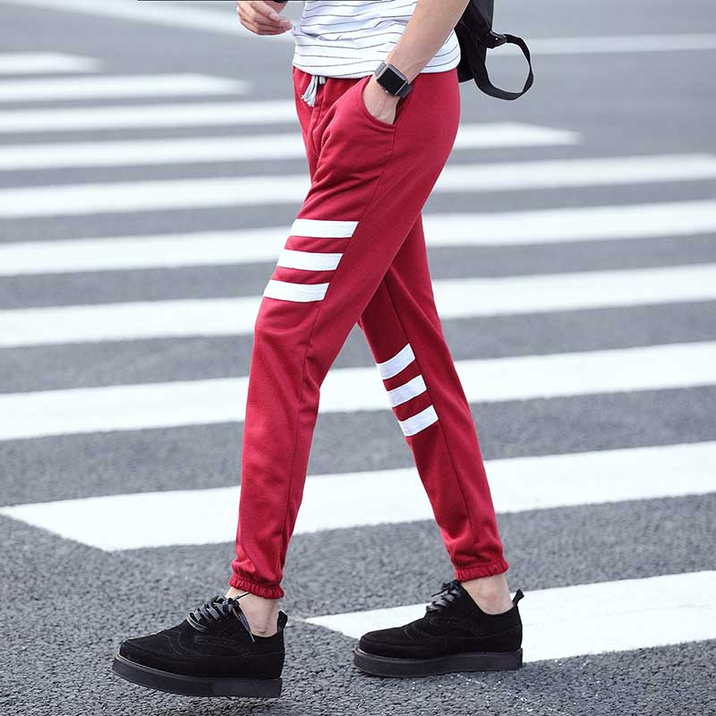 2016 new style men's casual pants feet pants male harbor wind pants(China (Mainland))