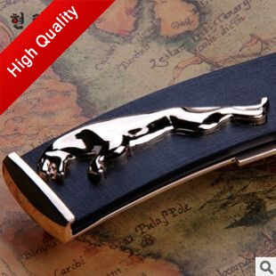 2014 Promotions Free Shipping Handsome Stylish Jaguar Leather Belt Luxury Brands  Belts For Men Gift R14(China (Mainland))