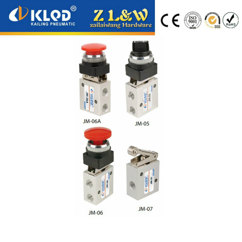 JM/MOV mechanical valve control valve people pneumatic components knob button mushroom head spin with a lock lever handle(China (Mainland))