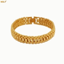 Hot Brand Star 18K Gold Plated Bracelet Men Women Jewelry Gift Trendy Chunky Gold Chain Vintage Link Bracelet Wholesale Pulseras(China (Mainland))