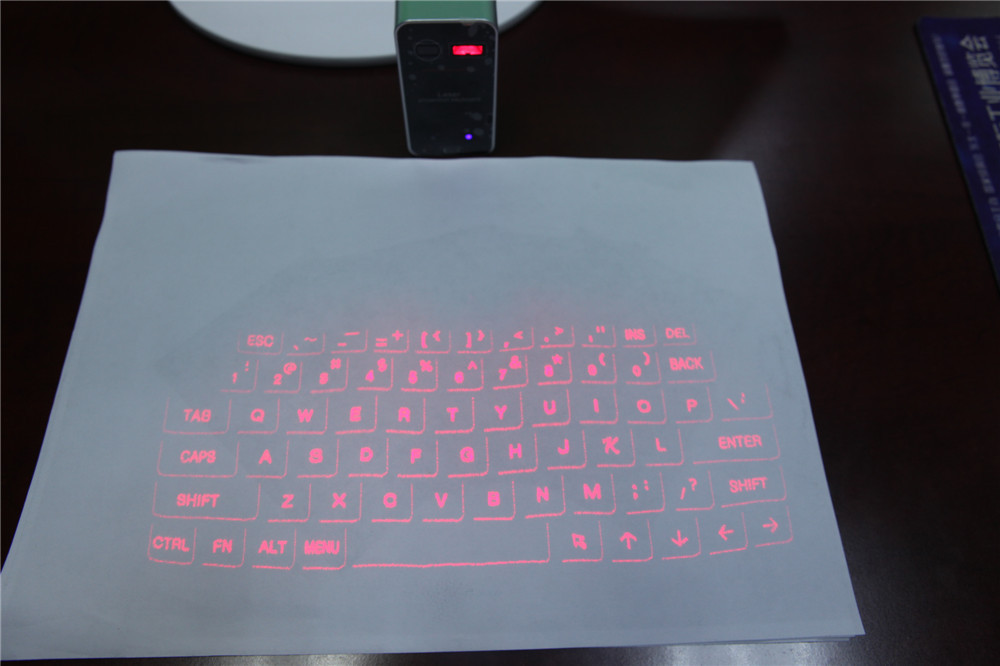 Portable Infrared Wireless Bluetooth Laser Projection Virtual Keyboard Led Light(China (Mainland))