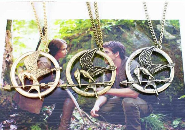 The Hunger Games Mocking Necklace Jay,Zinc Alloy Necklaces,Mockingbird Pendant Jay, Anti war Personality,Clothing & Accessories(China (Mainland))
