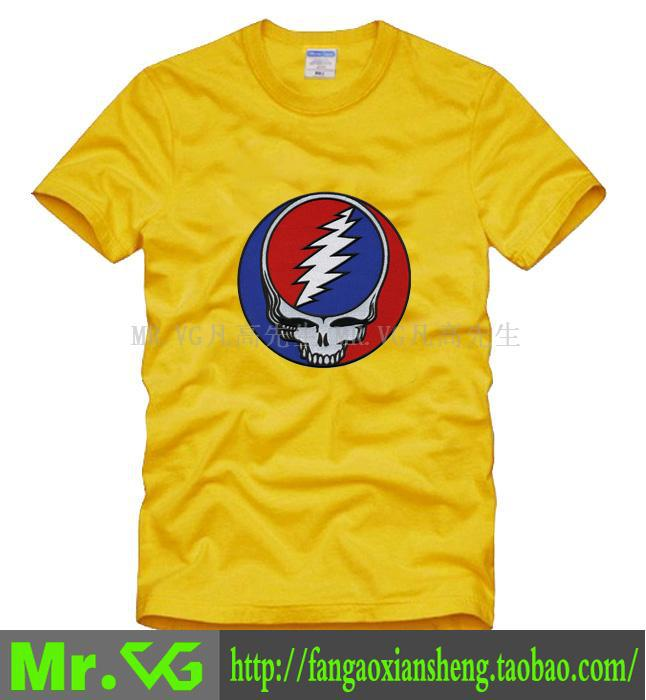 Grateful Dead Folk-Rock Hard Psychedelic Rock band Touch of Gery man men male plus size sports T-shirt(China (Mainland))