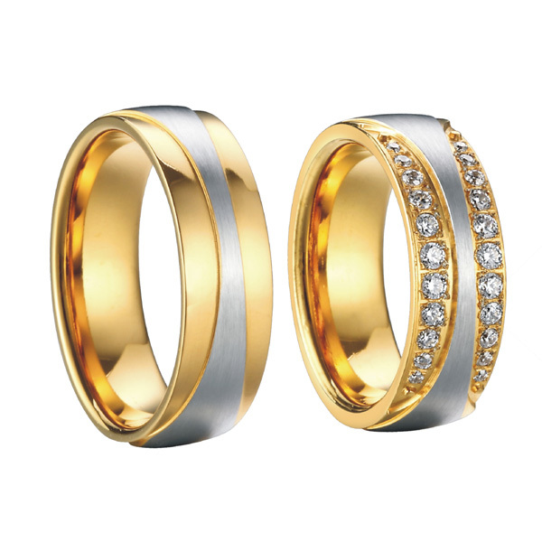 Mens And Womens Fashion Jewelry 18k Gold Plated Cubic Zirconia Infinity Engag