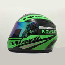 High quality brand Kawasaki motorcycle helmet professional racing full face helmet moto cascos capacete motoqueiro DOT approved(China (Mainland))