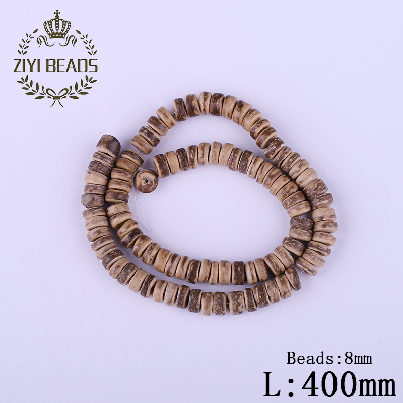 Hot 8mm Light Coffee Coconut Shell Hole Beads Wholesale Fashion Natural Dark Brown Wheel Bead Beaded For Kids DIY Jewelry Making(China (Mainland))