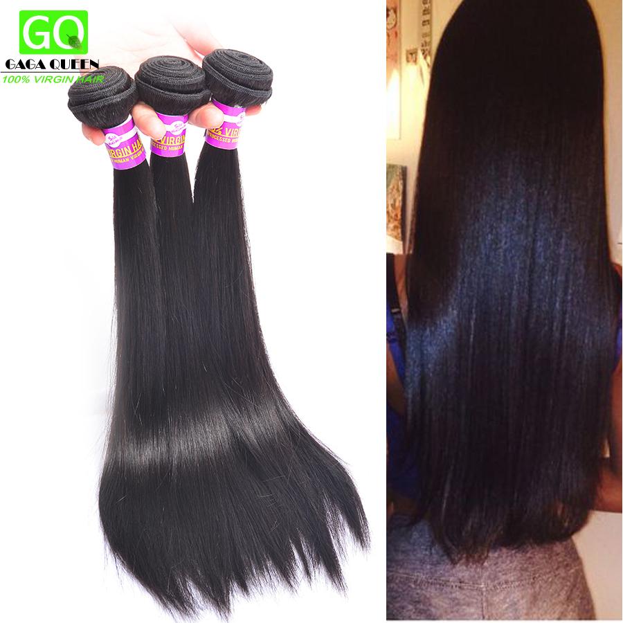 Gaga Queen Hair 4 Bundles 7a Brazilian Virgin Hair Straight 100%Unprocessed human Hair Weaves Brazilian Straight Hair Extensions<br><br>Aliexpress
